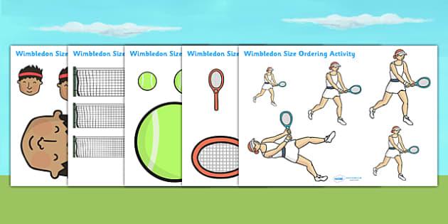Wimbledon Size Ordering Activity - wimbledon size ordering, wimbledon activity, wimbledon resources, wimbledon game, wimbledon 2013