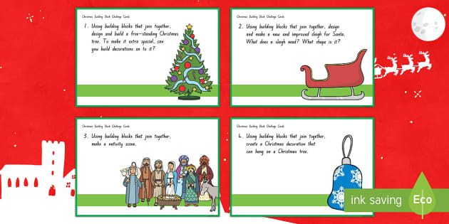 Christmas Technology Challenge Cards - New Zealand Christmas, lego, building blocks, technology challenge, christmas activities, end of yea