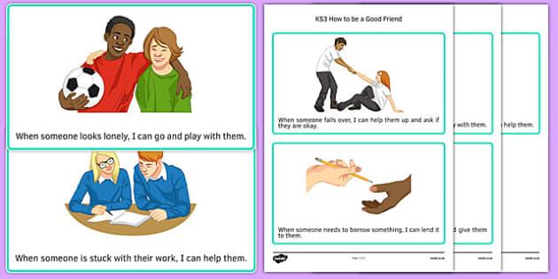 KS3 How to be a Good Friend Cards - ks3, how, good friend, card