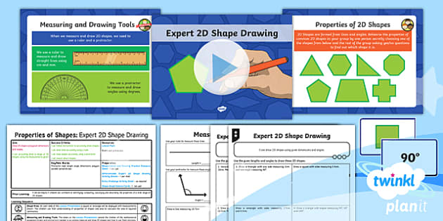 PlanIt Y6 Properties of Shape Lesson Pack - Properties of Shape, 2D Shape