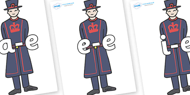 Modifying E Letters on Beefeaters - Modifying E, letters, modify, Phase 5, Phase five, alternative spellings for phonemes, DfES letters and Sounds