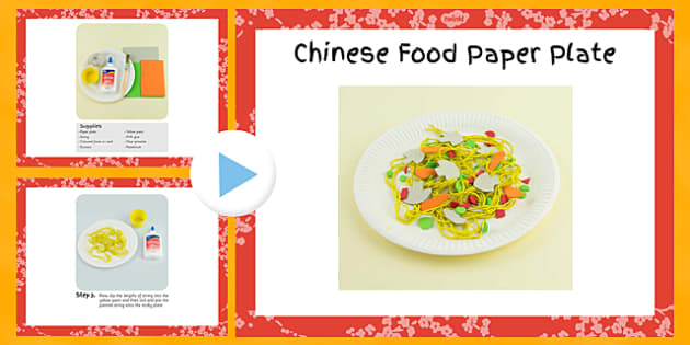 Chinese Food Paper Plate Craft Instructions PowerPoint - craft, chinese, food, powerpoint, paper, plate