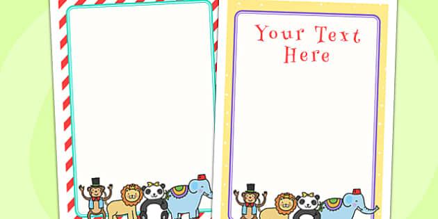 Animal Themed Birthday Party Editable Poster - animals, birthdays