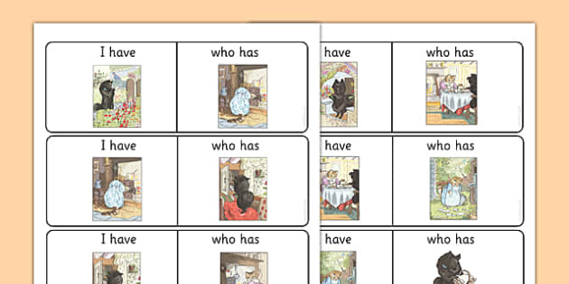 Beatrix Potter - The Tale of the Pie and the Patty Pan Matching Loop Card Activity - beatrix potter, pie, patty pan, loop cards