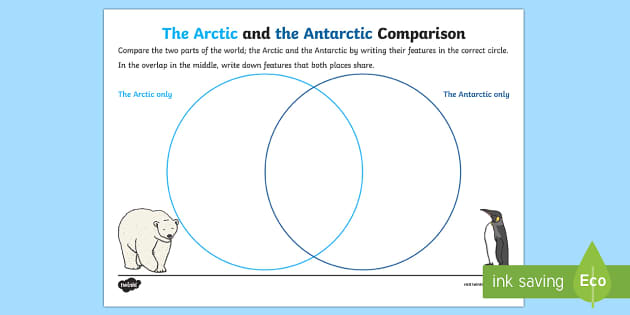 Arctic and Antarctic Comparison Activity - The Arctic, Polar Regions, north pole, south pole, explorers, comparison, arctic and antarctic