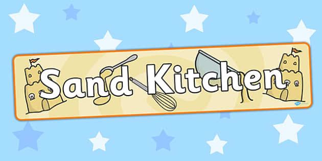 Sand Kitchen Display Banner - banners, displays, kitchens, messy
