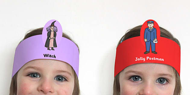 Role Play Headbands to Support Teaching on The Jolly Postman - roleplay, props, stories