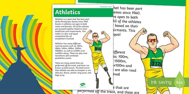 Australia Rio Paralympics 2016 Athletics Display Poster