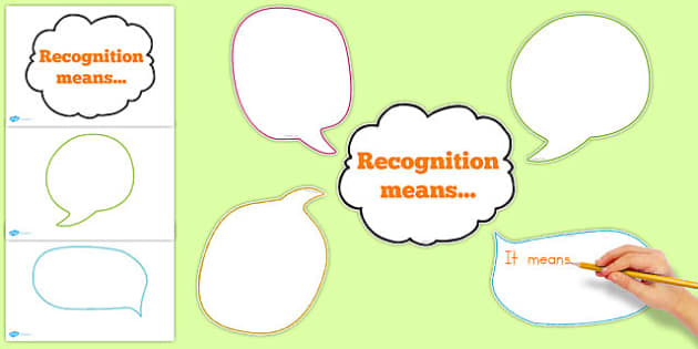 Recognition Means Thought Bubbles Display - australia, recognise