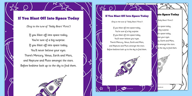 If You Blast Off Into Space Today Song - planet, planets, astronaut, rhyme