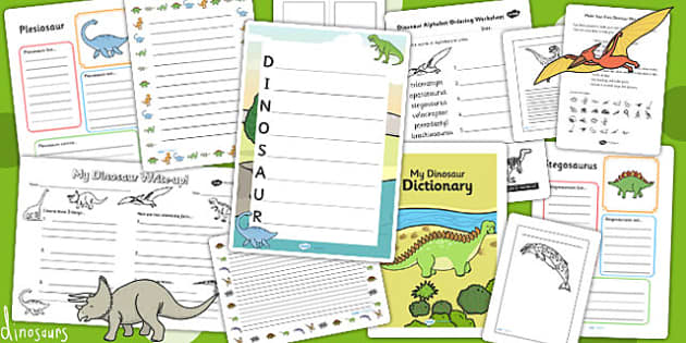 Dinosaur Themed Writing Activity Pack - write, writing, literacy