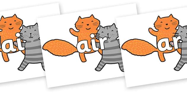 Phase 3 Phonemes on Cats - Phonemes, phoneme, Phase 3, Phase three, Foundation, Literacy, Letters and Sounds, DfES, display