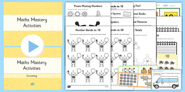 Year 1 Maths Mastery Number Bonds Lesson Teaching Pack