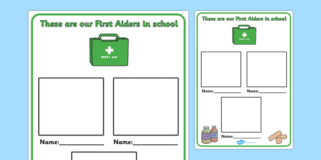Editable First Aiders Poster - first aiders, display poster, edit