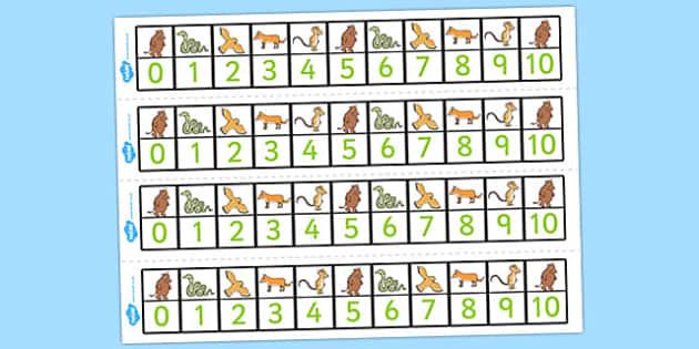 The Gruffalo Number Track 0-10 - gruffalo, number track, 0-10