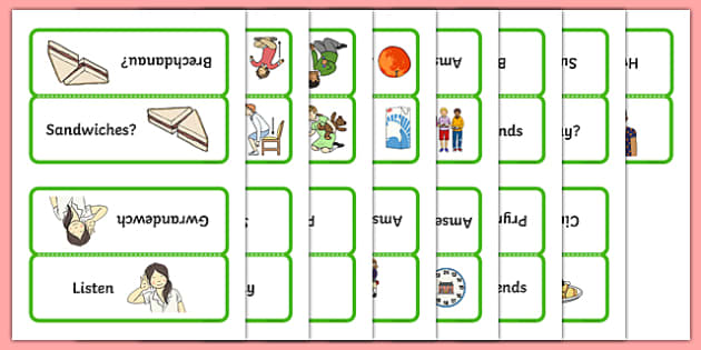 Word Cards for Bocs or Bag Helpwr Heddiw Year 1 and 2 - welsh, cymraeg, Word Cards, Welsh Second Language, Helpwr Heddiw