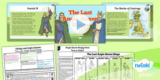 PlanIt History LKS2 Viking Anglo-Saxon Lesson 6 Last Anglo Saxon King