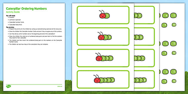 Caterpillar Ordering Numbers Busy Bag Resource Pack for Parents - numbers, ordering, sequencing, EYFS