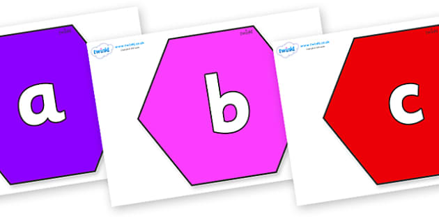Phoneme Set on Hexagons - Phoneme set, phonemes, phoneme, Letters and Sounds, DfES, display, Phase 1, Phase 2, Phase 3, Phase 5, Foundation, Literacy