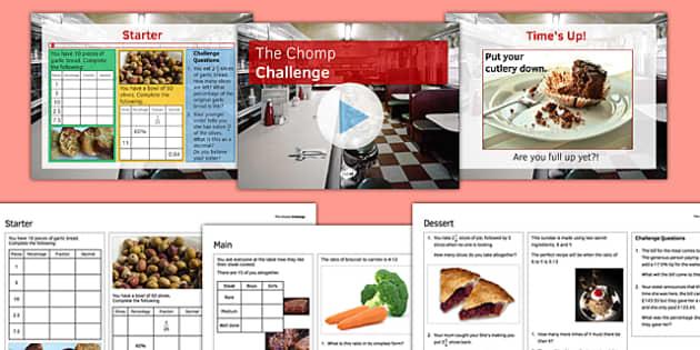 FDP Chomp Challenge - KS3, KS4, GCSE, Maths, Fractions, decimals, percentages, FDP, ratio, revision, test, assessment