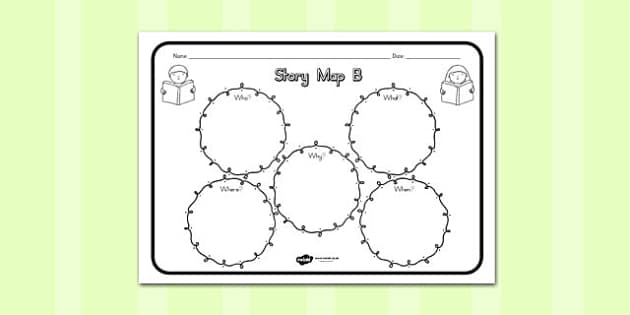 Story Map B Worksheet - australia, story, map, b, worksheet