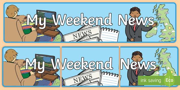 My Weekend News Display Banner - My Weekend, My Weekend News, Display Banner, My Weekend News Display Banner, Banner, Display, Weekend Banner