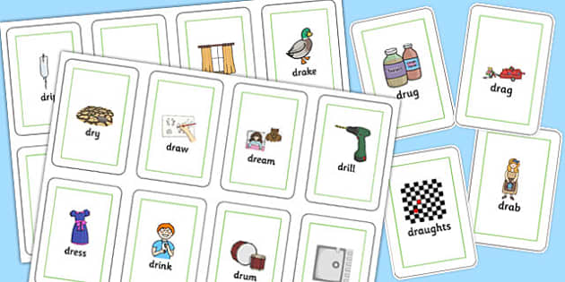 DR Flash Cards -speech sounds, phonology, articulation, speech therapy, cluster reduction, clusters, blends