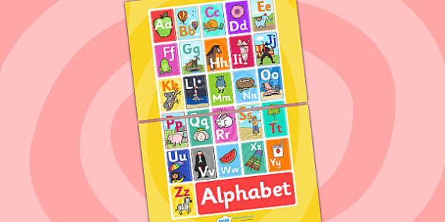 Alphabet Display A3 Poster -  Alphabet display, alphabet poster, alphabet A3 poster, alphabet A3 display, alphabet display poster, alphabet sign