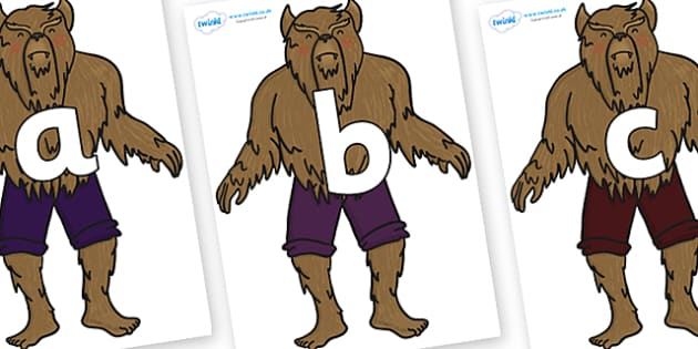 Phoneme Set on Beast - Phoneme set, phonemes, phoneme, Letters and Sounds, DfES, display, Phase 1, Phase 2, Phase 3, Phase 5, Foundation, Literacy