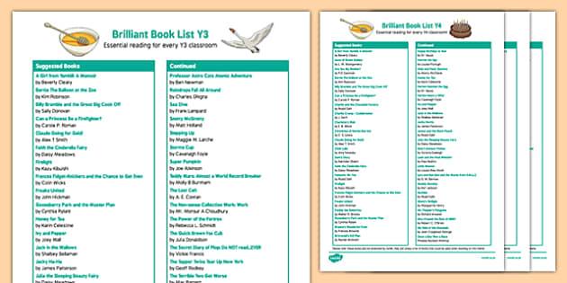 KS2 Book List Pack
