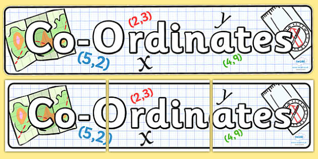 Co-ordinates Display Banner - display header, header, numeracy