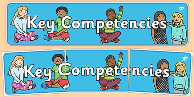 New Zealand Key Competencies Display Banner - new zealand, nz, key, competencies, display