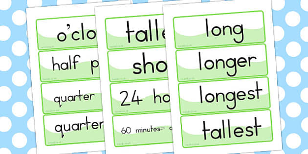 Time Topic Word Cards - australia, time, topic, word, cards