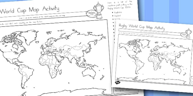 Australia Rugby World Cup Map Activity - australia, rugby, world cup