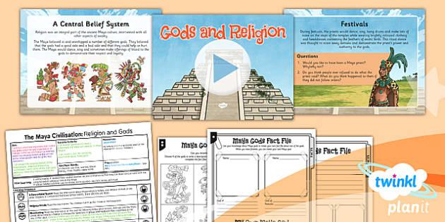 PlanIt - History UKS2 - The Maya Civilisation Lesson 2: Religion and Gods Lesson Pack