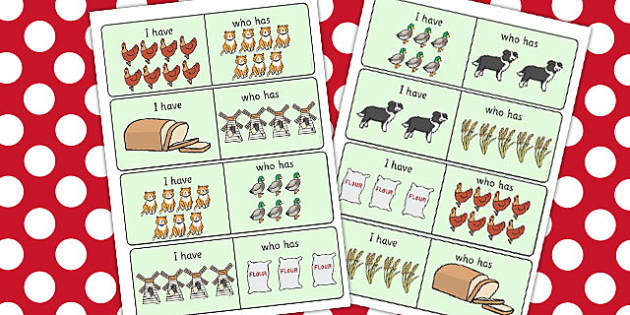 The Little Red Hen I Have Who Has Counting Activity - hen, count