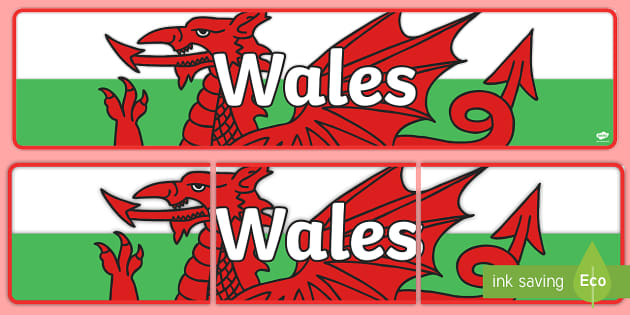 Wales Display Banner - Wales, Welsh, display, poster, sign, banner, daffodil