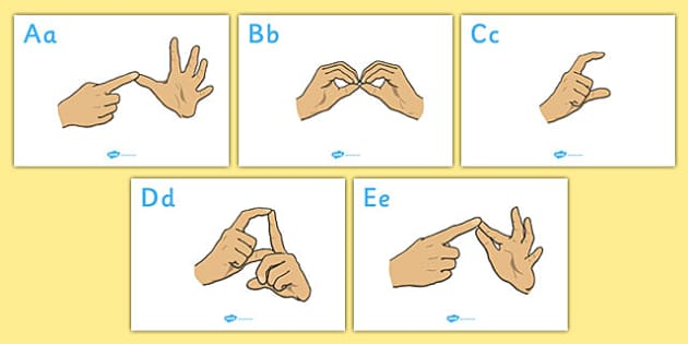 British Sign Language Alphabet Signs - alphabet, sign, language