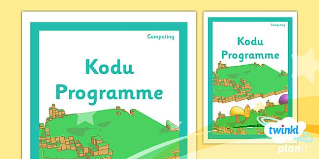PlanIt - Computing Year 6 - Kodu Programming Unit Book Cover - planit, computing, year 6, book cover, unit, book, cover, kodu programming