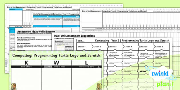 PlanIt - Computing Year 2 - Programming Turtle Logo and Scratch Unit Assessment Pack - planit, computing, year 2, assessment