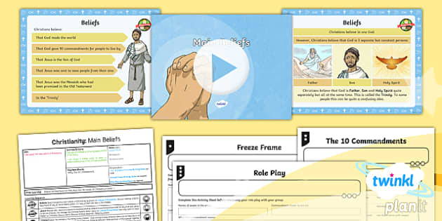 PlanIt - RE Year 4 - Christianity - Lesson 2: Main Beliefs Lesson Pack