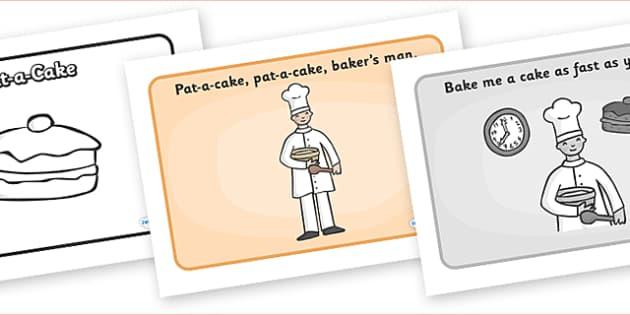 Pat-a-Cake Sequencing - Pat-a-Cake, sequencing, nursery rhyme, rhyme, rhyming, nursery rhyme story, nursery rhymes, clapping rhyme, Pat-a-Cake resources