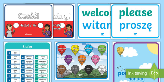 Learn Polish Display Pack - Language Packs, polish, phrase, words, vocabulary