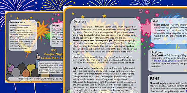 Bonfire Night Lesson Plan Ideas KS1 - bonfire night, lesson plan, lesson plan idea, lesson ideas, lesson planning, teaching plan, KS1, key stage 1, ideas