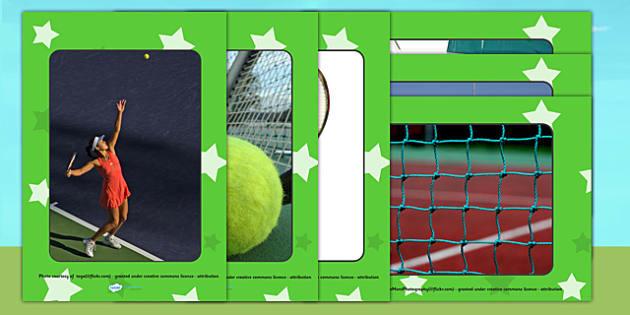 Wimbledon Display Photo Cut Outs - tennis, sports, pe, cutouts