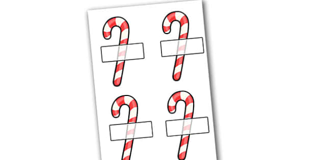 Christmas Self Registration Candy Canes Editable - christmas