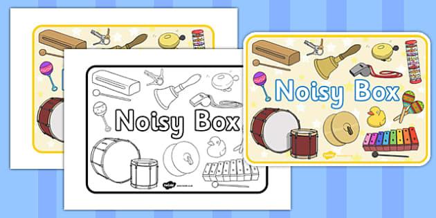 Noisy Box Label - noisy box, label, noisy, box, noisy box label