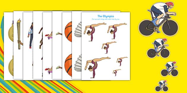 Rio 2016 The Olympics Size Ordering - rio 2016, 2016 olympics, rio olympics, the olympics, size ordering