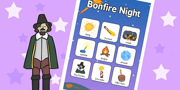 Bonfire Night Vocabulary Poster - vocab poster, festivals, vocab