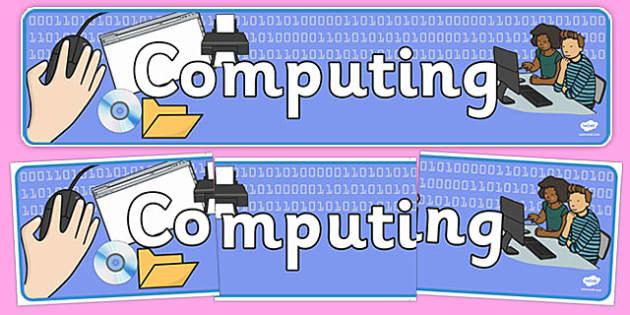 Computing Display Banner - computing, display banner, display, banner, ict